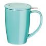 Tisanière tendance turquoise 45cl   couvercle et filtre