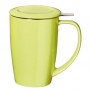 Tisanière tendance vert citron 45cl + couvercle et filtre